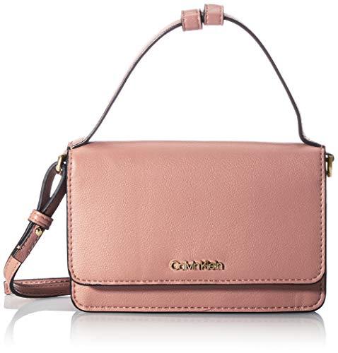 Calvin Klein Mini väska med lock för kvinnor med topp H tillbehör-reseplånbok, - Lila - en storlek