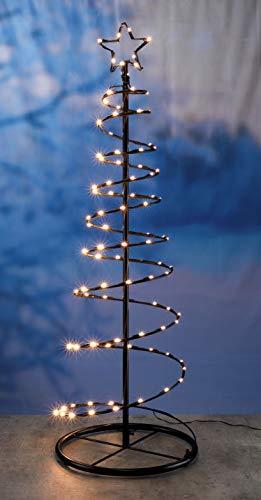 Metall Weihnachtsbaum mit 100 LED in warmweiß - Lichterbaum außen und innen als Weihnachtsbeleuchtung