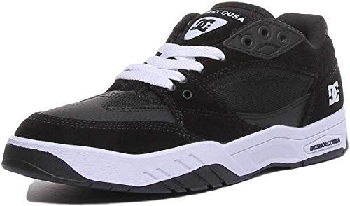 DC Shoes Maswell, Zapatillas de Skateboard Hombre, Negro (Black/White BKW), 38 EU