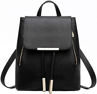 BEESCLOVER Women Solid Backpack Spanish Brand PU Leather Schoolbag Rucksack for Teenager Girl Top-Handle Backpacks Mochila Escolar Feminina White One Size