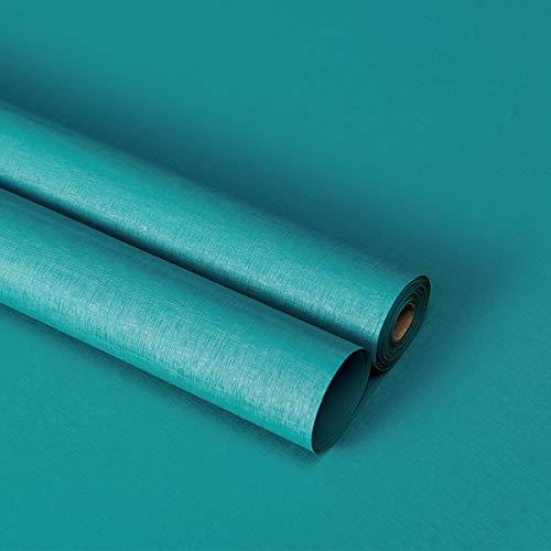 Lifetree Möbelfolie Klebefolie Selbstklebende Folie Dekorfolie Tapeten Wasserdicht Aufkleber für Möbel Küche Küchenschrank Umgestaltung 40x300cm Blaugrün