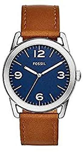 Fossil Orologio Analogico Quarzo Uomo con Cinturino in Pelle 4053858957343