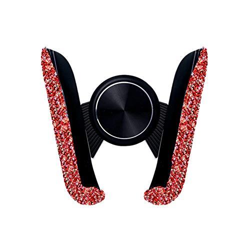 Ekakashop Bling Supporto per telefono per auto Supporto per telefono in cristallo Supporto per telefono mini cruscotto auto Supporto per presa d'aria regolabile a 360 gradi Accessori interni auto