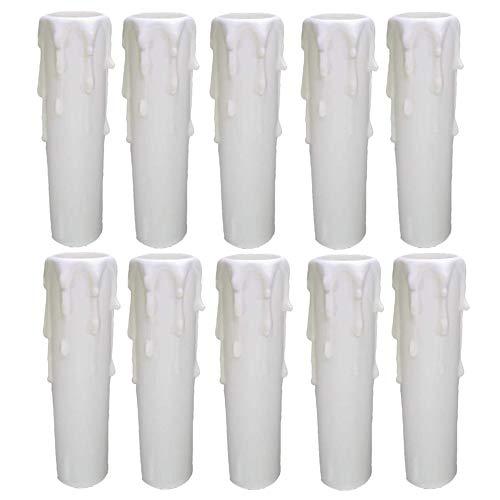 AAPLUS 10 x Ø24/26 mm Funda para Portavelas en Plástico Casquillo E14 para Vela Portalámparas de Vela E14 para Reemplazar el Candelabro, Lámpara de Pared y Vieja,100 mm(Non Portalámparas Interno)