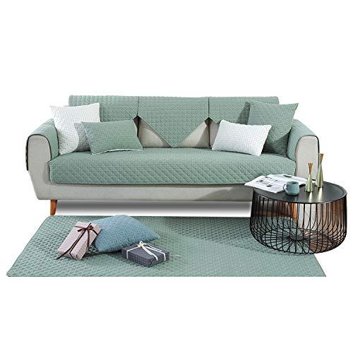 PETCUTE Sofabezüge Sofabezug Luxus Sofa Schutz aus Sofaschoner Sofaüberwurf für Ecksofas Anti-Rutsch Schonbezug Grün 90X160CM