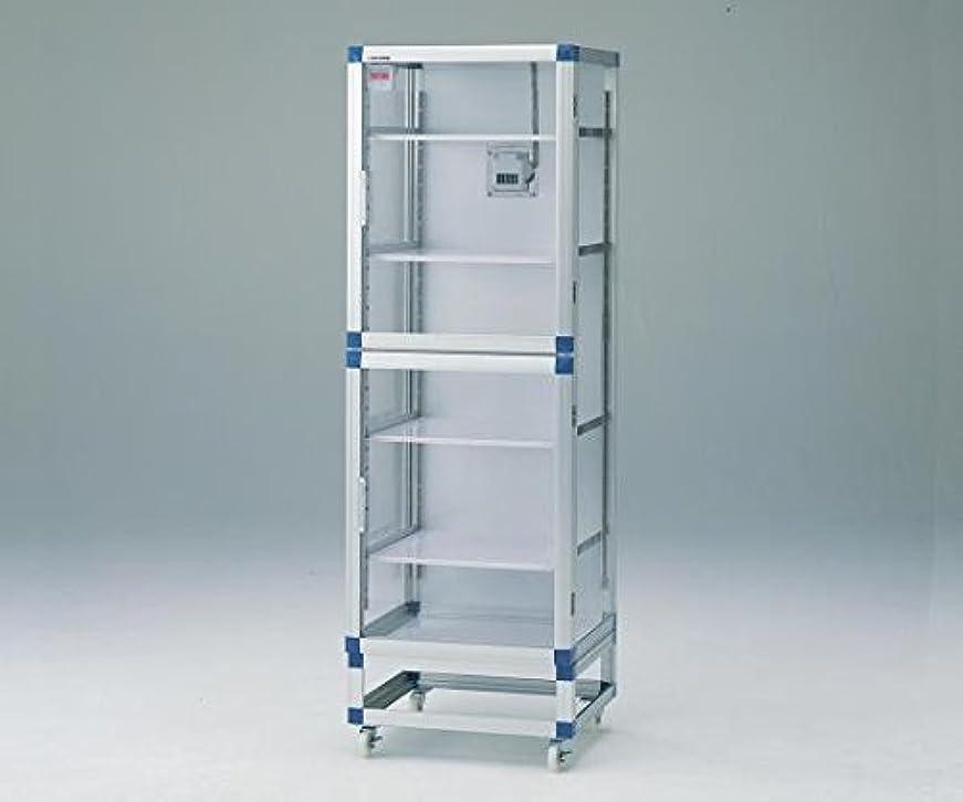 サイクロプス砂濃度アズワン フロストドライデシケーター(ジャンボ) 574×611×1765mm 強化プラスチック棚板/1-7522-71
