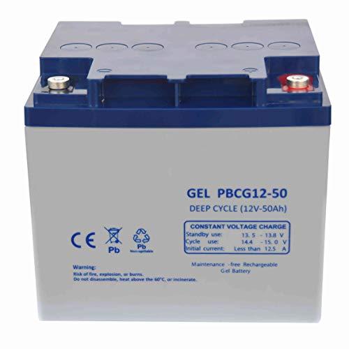 FullBattery Batería Gel Ciclo Profundo 12V 50Ah PBCG12-50 🔥
