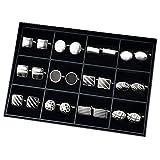 Luckeyui 12 Pairs Cufflinks Set Gifts for Men Vintage Wedding Tuxedo Shirt Cuff Links Silver & Black