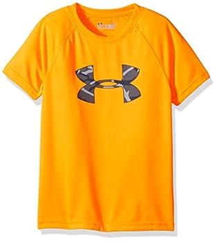 Under Armour Boys  Toddler Big Logo Short Sleeve Tee Shirt Traffic Cone Orange 181 3T