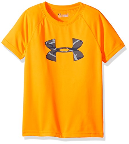 Under Armour Boys' Toddler Big Logo Short Sleeve Tee Shirt, Traffic Cone Orange 181, 4T