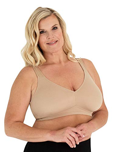 LEADING LADY Women's Dreamy Comfort Everyday Bra, The Claire, Beige, 50B