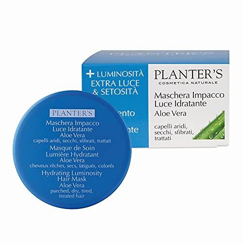 Planter s - Maschera Impacco Luce Idratante all Aloe Vera. Maschera ristrutturante su capelli secchi e crespi, sfibrati, trattati e spenti. 200 ml