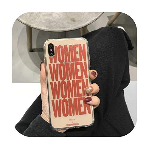 Funda de teléfono para mujer con diseño de letra de moda para iPhone 12 11 Pro Max XR XS Max X Case Coque 6S 7 8 Plus 12 Mini para niñas y mujeres-para iPhone 11Pro MAX