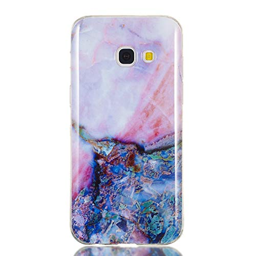 Coque [Ultra Slim] [Anti-Scratch ]Antidérapan Flexible 3D Marble Premium Cristal Transparent Modèle TPU Silicone Soft Crystal Clear Gel Etui Housse de Protection Bumper pour Samsung A5 2017