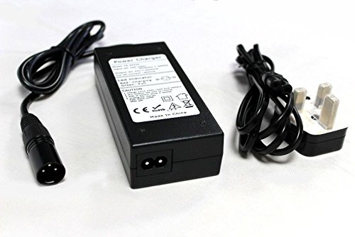 24v 2A Mobility Scooter/Electric Wheelchair/Golf Buggy Charger Power Supply with 3-Pin XLR Connector and UK 3-Pin Lead - Fully Automatic - 3 Stage Charge Cycle - Connect and Forget - Model: TS-2024C