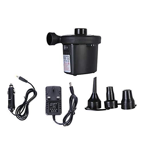 Vipithy Elektrische Luftpumpe, für Schlauchboote Luftbettpumpe Poolspielzeug Schwimmpumpe, Heim/Auto 2 in 1 Luftpumpe (UK-Stecker)