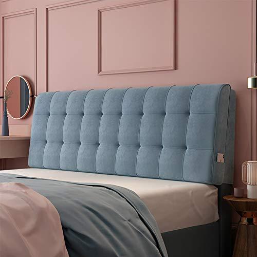Almohadas de Lectura y Reposo en Cama, Soporte de posicionamiento del Respaldo, Cierre la Brecha Entre su colchón y la cabecera (Color : Blue, Size : 130cm x 60cm (4.2ft x 1.9ft))