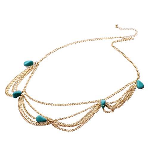 Lurrose Bohemia Head Chain Jewelry diadema Nupcial Hair Tassels Band tocado del...