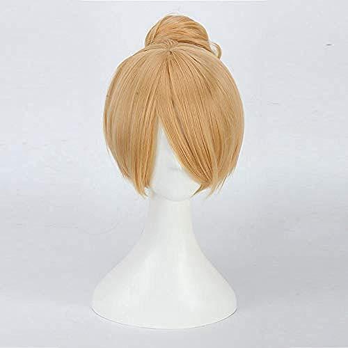 blonde perücke zum basteln bell tinkerbell kostüm erwachsene fee basteln bell volle cosplay perücken halloween