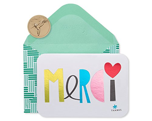 Papyrus Thank You Cards with Envelopes, Merci (14-Count)