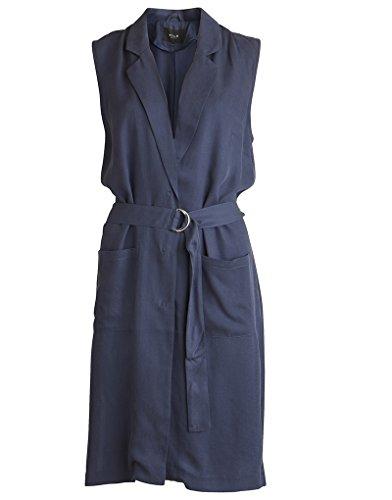 Vila Damen VIULTIMATE Waistcoat Bluse, Schwarz, 34 (Herstellergröße:Small)