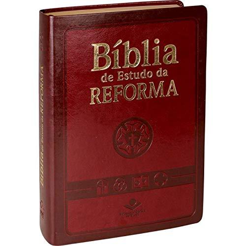 Bíblia de Estudo da Reforma - Couro sintético Vinho: Almeida Revista e Atualizada (ARA)