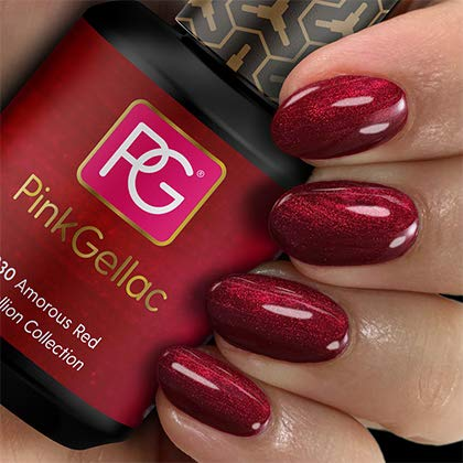 Pink Gellac UV Nagellack 230 Amorous Red. Professionelle Gel Nagellack shellac für mindestens 14 Tage perfekt glänzende Nägel