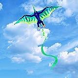 AWCPP Cometas de Modelado de Animales, Parque Tridimensional Infantil Cometas S Al Aire Libre Playa Al Aire Libre Adulto Cola Larga Volando Kites, 220 * 400 cm,B