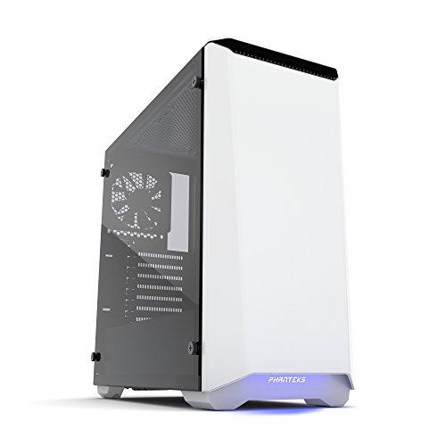 Phanteks Eclipse P400S Tempered Glass Midi-Tower Blanco - Caja de Ordenador (Midi-Tower, PC, Acrilonitrilo butadieno estireno (ABS), Vidrio, Acero, Blanco, ATX,EATX,Micro ATX,Mini-ATX, Multi)