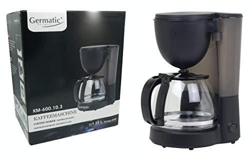 Kaffeemaschine 600W, mit 1,25L Glaskanne und Warmhaltefunktion