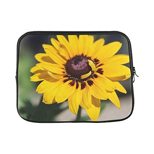 Design Custom Sunflower Summer Yellow Flower Plant Floral Sleeve Soft Laptop Case Bag Pouch Skin for MacBook Air 11'(2 Sides)
