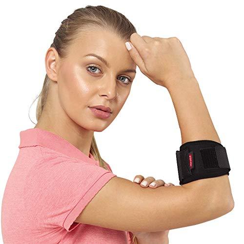 Fascia per gomito da tennis con cuscinetto di compressione, tutore per gomito da tennis regolabile per donne e uomini, supporto per gomito tennista e golfisti, epicondilite laterale e mediale