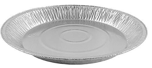 Pactogo 12' Aluminum Foil Pie Pan Extra-Deep Disposable Tin Plates (Pack of 12)