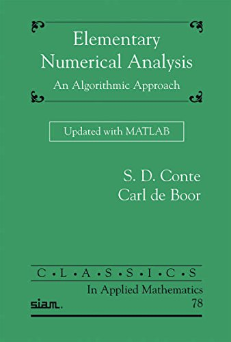 Conte, S:  Elementary Numerical Analysis
