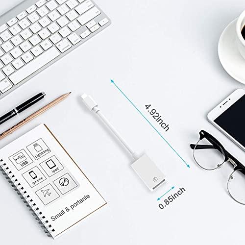 Adaptador Lighting a USB3 de 8 Pines USB OTG Macho a USB Hembra Para Conectar Cámara, Phone y Pad, unidad Flash USB, Teclado, Hub, MIDI