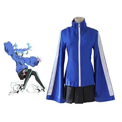 PAOFU-Japan Anime Kagerou Project Enomoto Taka Cosplay Kostüm Mantel Und Rock Und Strumpf,Blau,M