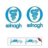 Sticker Mimo Pegatinas compatibles con ELNAGH Mini Kit 2 Accesorios Camper, Caravan, Caravan, Caravan, Camping (Azurro 30 cm)