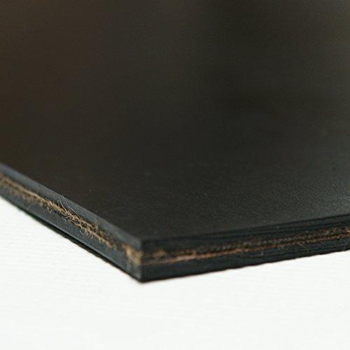 Rubber-Cal Heavy Black Conveyor Belt - Rubber Sheet - .30(2Ply) Thick x 4' Width x 72' Length - Black