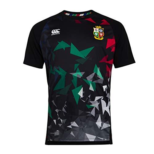 Canterbury Herren British and Irish Lions Rugby Superlight Graphic T-Shirt, Schwarz, 4XL