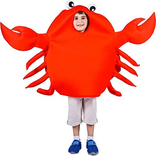 SEA HARE Disfraz de Disfraz de Animal Cangrejo Rojo para niños (One Size)