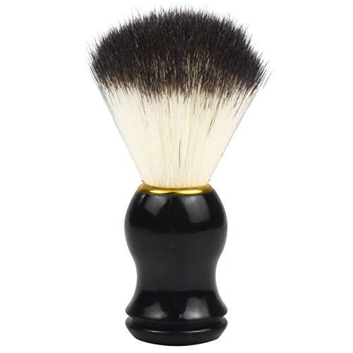 Pinsheng Brocha de Afeitar, Brocha de Pelo Cerdas de Afeitar Sintético Amigable para los Veganos, para Crema de Afeitar Jabón en Espuma para Hombres Peluquería