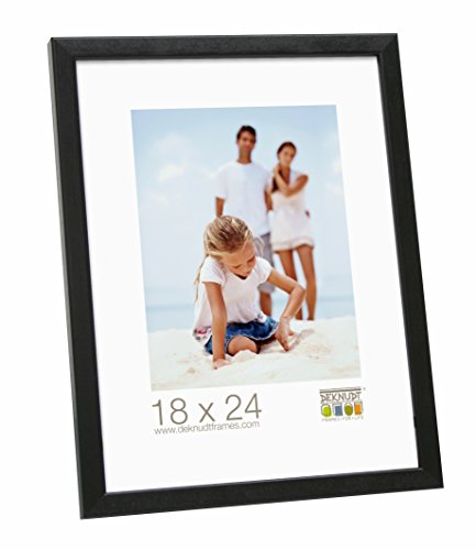 Deknudt Frames S41JL2-21.0X29.7 Bilderrahmen, Holz, schmal, 32 x 23 x 1,85 cm, Schwarz