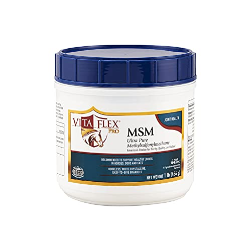 Vita Flex Pro MSM Joint Supplement | Odorless | For Horses, Ponies, Dogs and Cats | 4 lb, 3000097, White