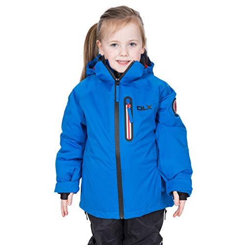 Trespass Luwin Waterdichte Ski-jas voor kinderen met Recco Avalance Rescue System, Afneembare Capuchon, Goggle Pocket & Ski Pass Sleeve Pocket