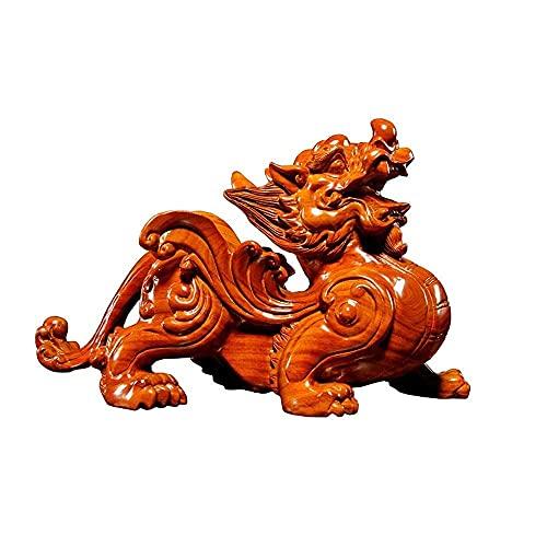 CHHD Feng Shui Dekoration Palisander Skulptur Dekorativ,Chinesische Feng Shui PiXiu/PiYao Statuen,Moderne Retro Tier Statuen Handwerk Inneneinrichtungsgegenstände Geschenk Figur Kreativ