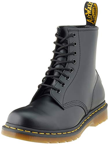 Dr. Martens 1460 Smooth - Botas estilo militar unisex para adulto, color Negro, talla 37 EU