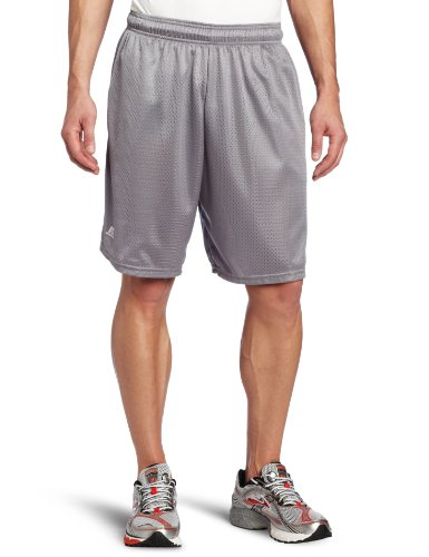 Russell Athletic Men's Mesh Short with Pockets, Steel, Large