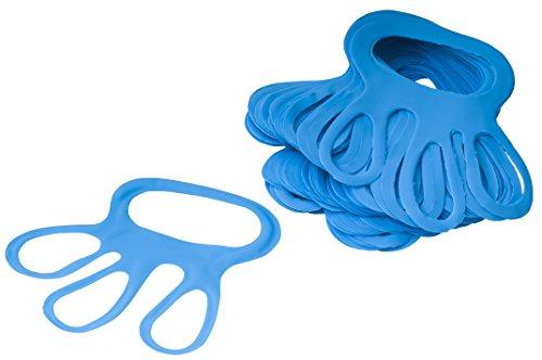 Eurosell 100 STÜCK Profi Fingerlinge Fingerfix Handschuhspanner blau Stechschutzhandschuh Handschuhspanner