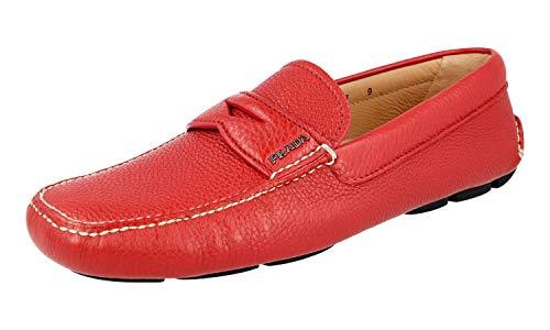 Prada Herren Rot Leder Business Schuhe 2DD001 T6O F0011 43 EU/UK 9