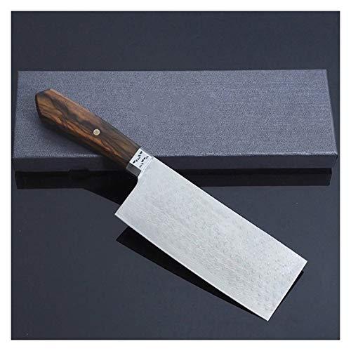 Cuchillos Cuchilla de Cocina Cuchillo de Cortar Chino Damasco Acero 7 Pulgadas Manejo de Madera patrón Natrual Cocinero de Acero Cuchillos (Kitchen Knife Size : 7 Inch)